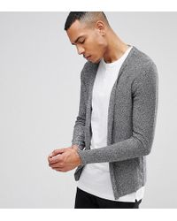 SELECTED - Open Drape Cardigan In 100% Cotton - Lyst