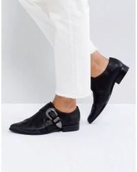 ASOS - Mudslide Western Pointed Flat Shoes - Lyst