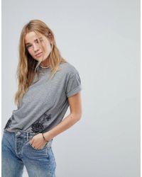 Hollister - Embroidered Boyfriend T-shirt - Lyst