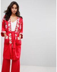Millie Mackintosh - Rose Embroidery Kimono Coat - Lyst