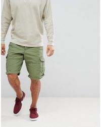 Esprit - Relaxed Fit Cargo Shorts In Green - Lyst