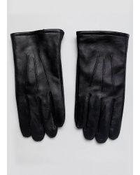 ASOS - Gants en cuir permettant d'utiliser un cran tactile - Lyst