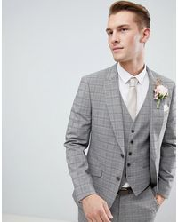 Burton Серый Пиджак В Клетку Wedding - Серый
