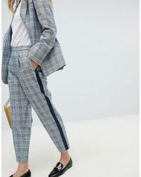 Oasis - Check Tailored Trousers - Lyst