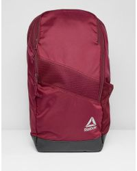 Reebok - Training Active Enhanced 24l Backpack In Red Cz9800 - Lyst