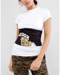 ASOS DESIGN - Asos Printed Panelled Fabric Corset Belt - Lyst