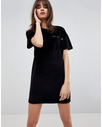 Uncivilised - Casette Print Velour Dress - Lyst