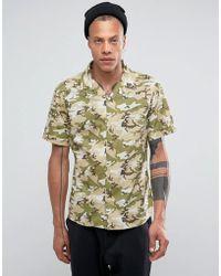 SYSTVM - Camo Revere Collar Shirt - Lyst