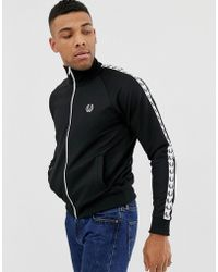 Fred Perry - Taped Track Jacket In Black - Lyst