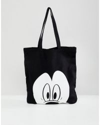 Bershka - Mickey Mouse Shopper - Lyst