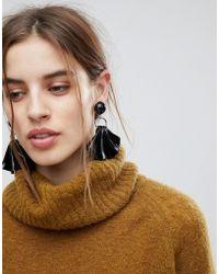 ASOS - Statement Folded Resin Drop Earrings - Lyst