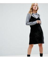 Noisy May Petite - 2 In 1 Sweat Velvet Dress With Hood - Lyst