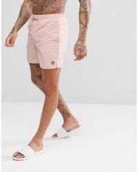 Lyle & Scott - Swim Shorts In Dusty Pink - Lyst