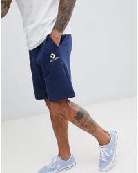 f86b988fdddf Converse - Logo Jersey Shorts In Navy 10008817-a02 - Lyst