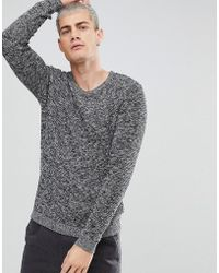 SELECTED - Knitted Jumper With Mixed Yarn Detail - Lyst