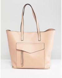 New Look - Minimal Pocket Shopper Bag - Lyst