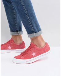 Converse - One Star Ox Plimsolls In Pink 159815c - Lyst