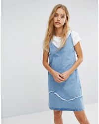 M.i.h Jeans - M.i.h Jeans Strappy Denim Dress With Fray Detail - Lyst