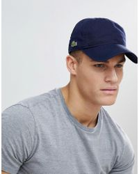 Lacoste - Logo Baseball Cap In Navy - Lyst
