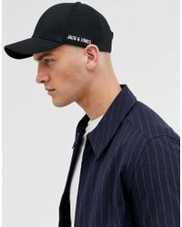 236df080ffa0 Jack & Jones - Baseball Cap In 100% Cotton With Side Logo - Lyst