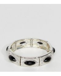 ASOS - Exclusive Engraved Stone Stretch Bracelet - Lyst