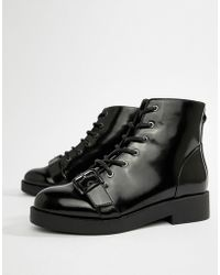 ASOS - Design Acoustic Chunky Biker Boots - Lyst