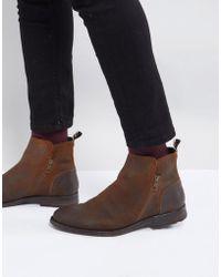 ALDO - Gerone Suede Zip Boots - Lyst