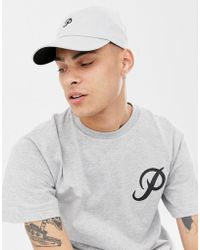Primitive - Baseball Cap With Mini Classic Logo In Grey - Lyst