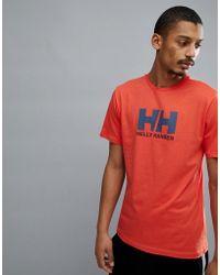 Helly Hansen - Logo T-shirt In Orange - Lyst