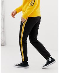 Jack & Jones - Core Logo Side Taping Sweat Sweatpants In Black - Lyst
