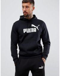 9287f5bad PUMA - Sudadera con capucha en negro 85174301 de Essentials - Lyst