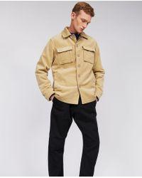 Aspesi - Cotton Corduroy Jacket Tigre Ii - Lyst