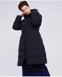 Aspesi - Stretch Nylon Down Hooded Coat Amaranto - Lyst