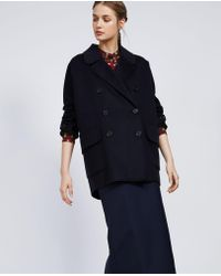Aspesi - Wool And Cashmere Double Coat - Lyst
