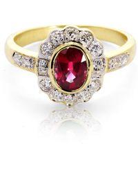 Aspinal of London - Debutante Ruby & Diamond Ring - Lyst
