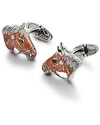 Aspinal - Sterling Silver & Enamel Animal Cufflinks - Lyst