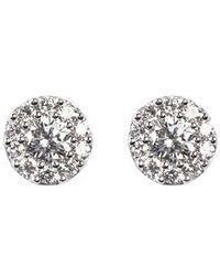 Aspinal - Monaco Diamond Cluster Stud Earrings - Lyst