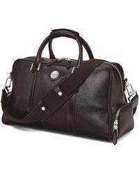 Aspinal of London - Dark Brown Pebble Italian Calf Leather Aerodrome 48 Hour Mission Bag - Lyst