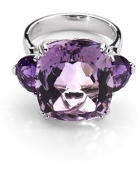 Aspinal of London - Ophelia Amethyst Cocktail Ring - Lyst