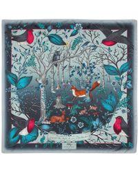 Aspinal - The Dockery Robin Silk Scarf - Lyst