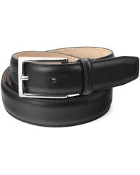 Aspinal - Men's Borough Belt In Black Saffiano - Lyst