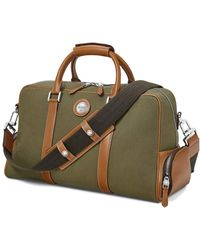 Aspinal of London - Green And Tan Brown Canvas Aerodrome 48 Hour Mission Bag - Lyst