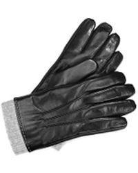Aspinal of London - Leather Gloves With Knitted Cuff - Lyst