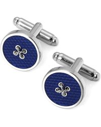 Aspinal of London - Sterling Silver Plated Button Cufflinks - Lyst