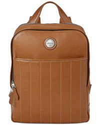 Aspinal of London - Tan Brown Italian Calf Leather Aerodrome Backpack - Lyst