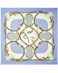 Aspinal - The Horseshoe Silk Scarf - Lyst