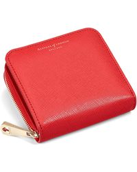 Aspinal | Leather Continental Small Clutch Purse | Lyst