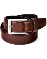 Aspinal - Men's Formal Leather Belt In Brown Shine - Lyst