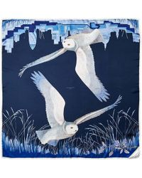 Aspinal - Owl In The City Scarf - Lyst