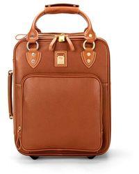 Aspinal of London - Ladies Handmade Weekend Bag - Candy Case In Tan Pebble Calf - Lyst